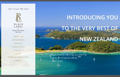 Global Web Design Blacklabel experience New Zealand