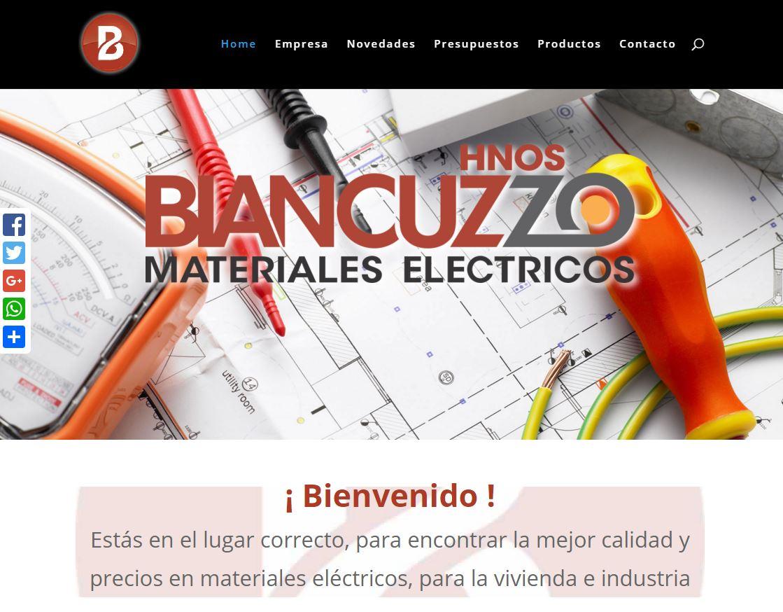 Pagina web empresa de materiales electricos